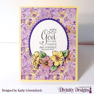 Stamp/Die Duos: Great Faith Dies: Twist & Pop with Layers, A2 Portrait Card with Layers, Ovals, Scalloped Ovals, Rectangles, Scalloped Rectangles Paper Pads: Whimsical Wildflower, Plum Pizzazz, Weathered Wood