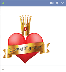 Queen of My Heart Valentine Emoticon