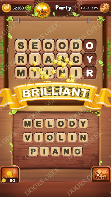 Word Bright Level 125 Answers, Cheats, Solutions, Walkthrough for android, iphone, ipad and ipod