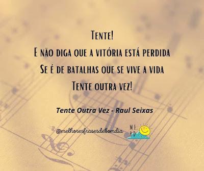 Trechos de música - Tente outra vez - Raul Seixas