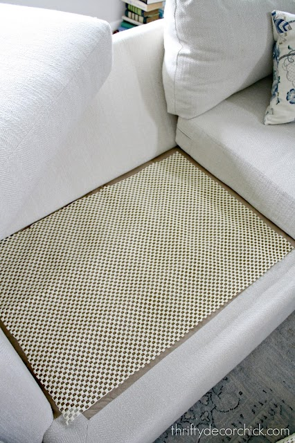 rug pad fix sliding couch cushions