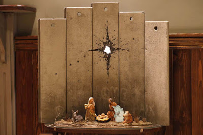 Banksy nativity scene featuring Yoda picture