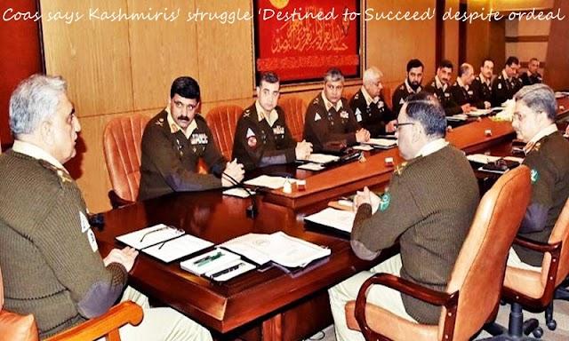 Coas says Kashmiris