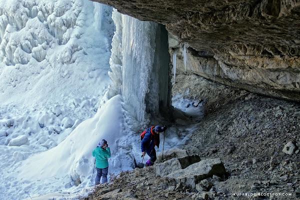 Колонна льда в окрестностях селения Лаза