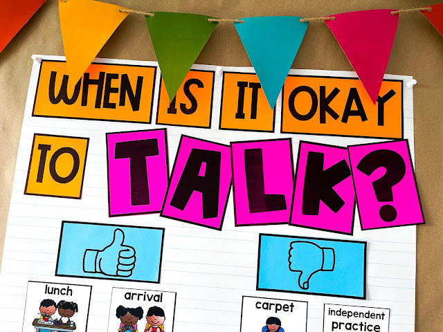 Classroom management strategies for a talkative class.