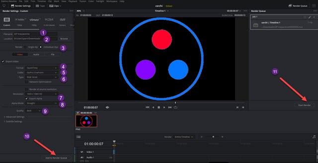 salvare la GIF come video trasparente