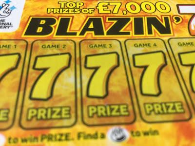 Blazin' 7s Scratchcard