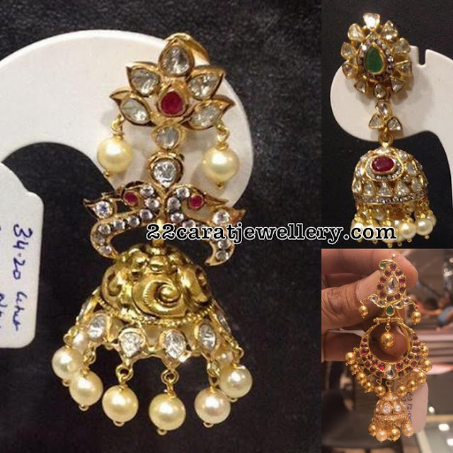 Pachi Work Jhumkas 30 to 35 grams