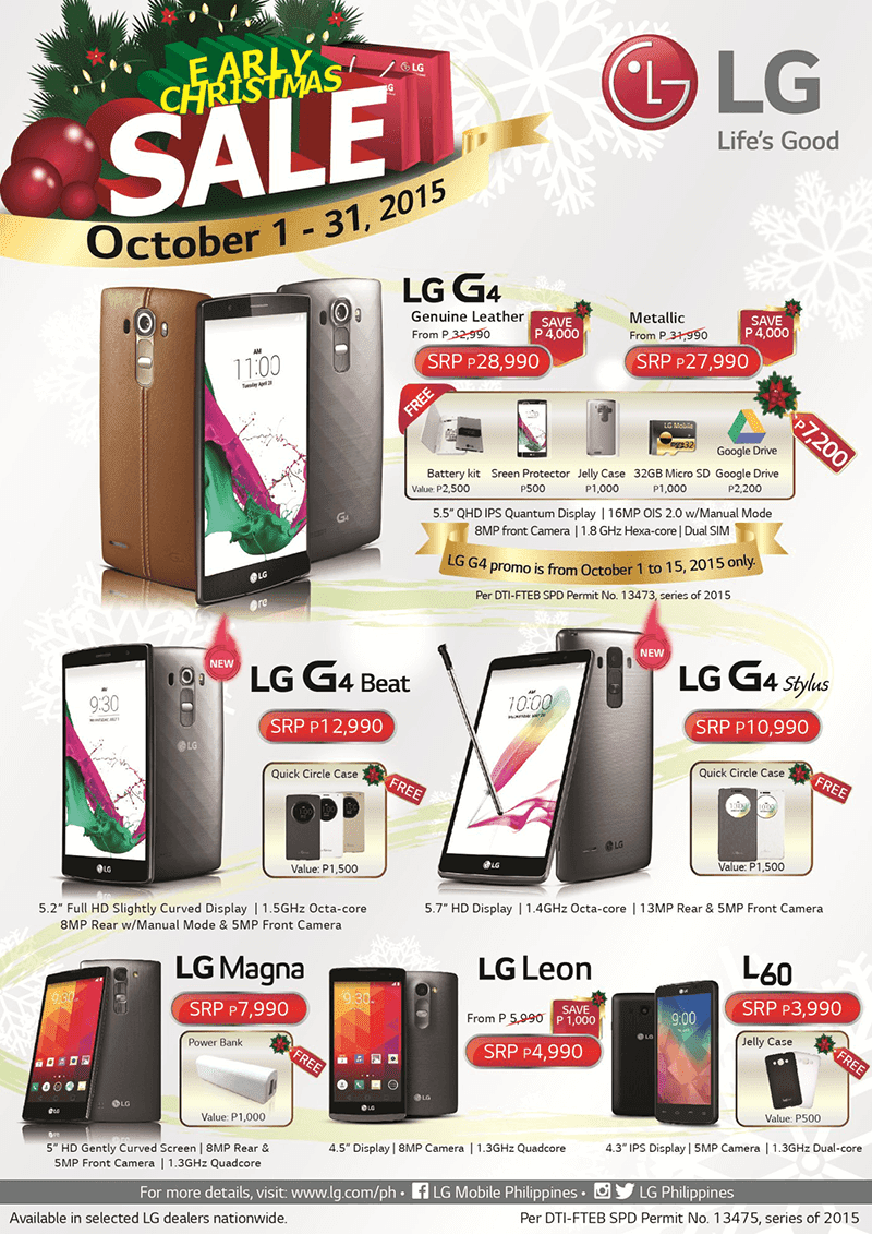 LG Philippines Announced Early Christmas Sale! Get Huge Discounts And Freebies!