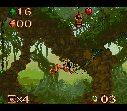 Jogue gratis Disney Jungle Book online para SNES