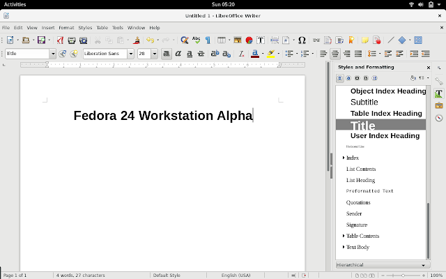 LibreOffice 5.x Writer