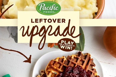 Here are some instructions about how to enter the Pacific Foods Leftover Upgrade Sweepstakes for your chance to win some really great prizes!