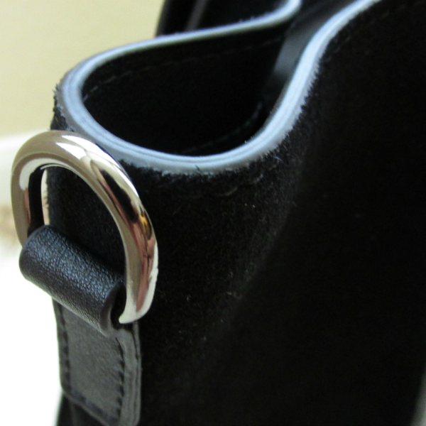 Details hardware: BAGINC Vanessa Large Tote Suede Leather Black Bag - REVIEW