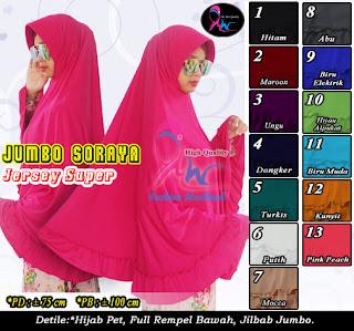 Jilbab syar'i jumbo banget yang murah dari jersey
