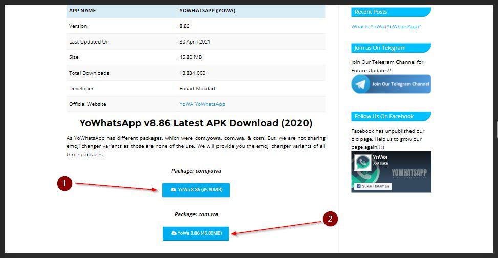 cara download yowhatsapp terbaru