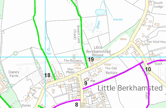 Definitive map of Little Berkhamsted