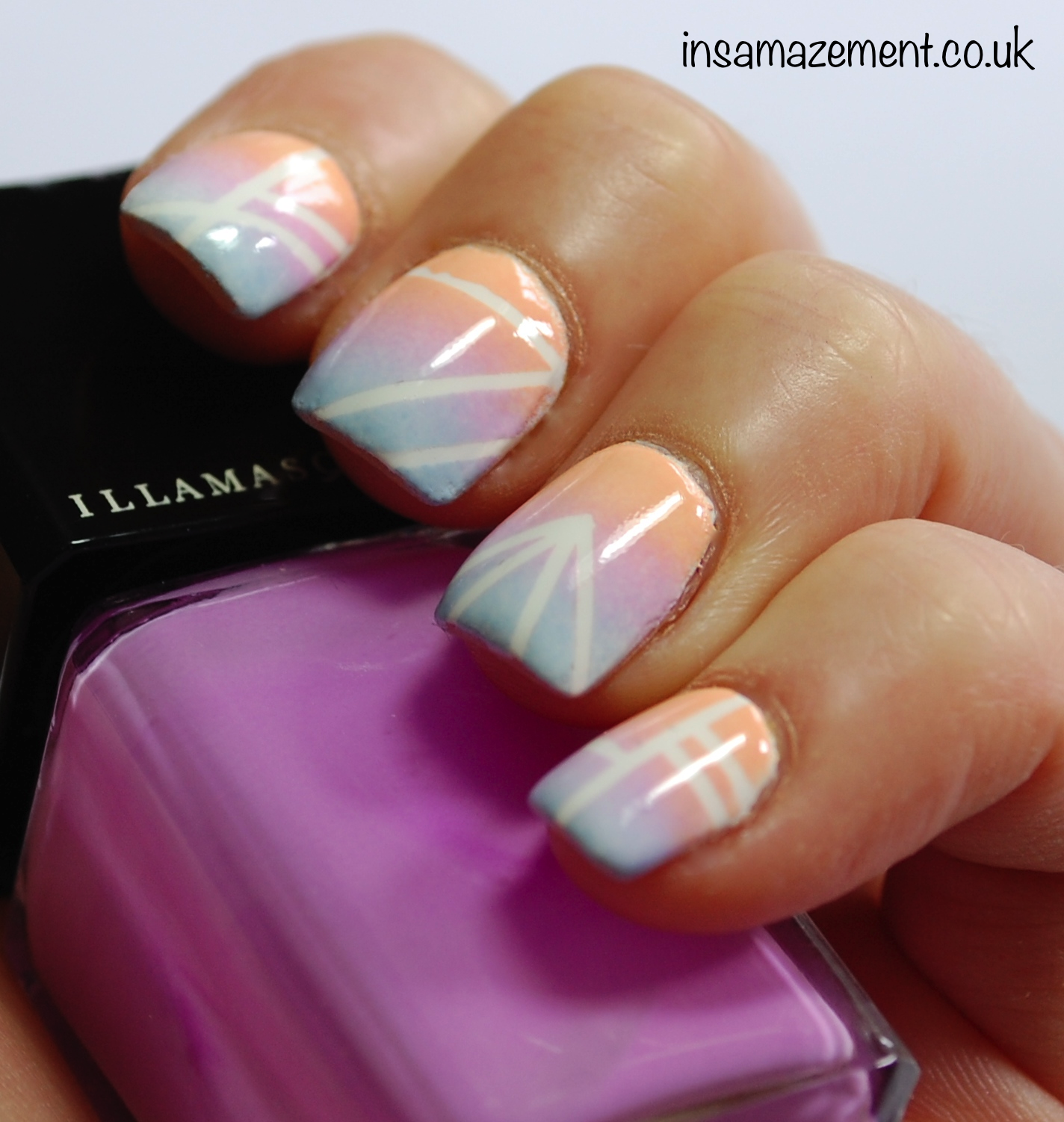 In SAMazement: Sunset Ombr Aztec Nail Art Tutorial