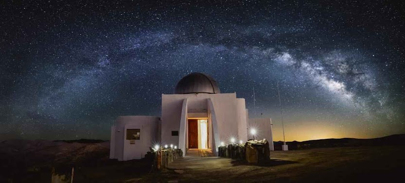 A night view of Collowara Observatory.