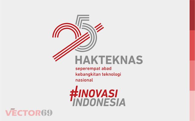 Logo Hakteknas ke-25 Tahun 2020 - Download Vector File PDF (Portable Document Format)