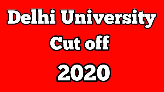 du cut off 2020 - delhi university cut off list