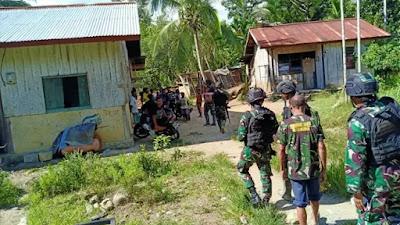 TNI Di Perbatasan Bantu Masyarakat Yang Sedang Berduka