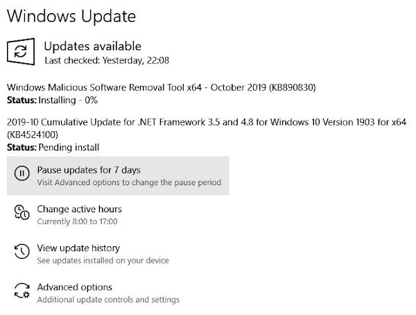 Cara Menonaktifkan Windows Update Automatic di Windows 7, 8, dan 10