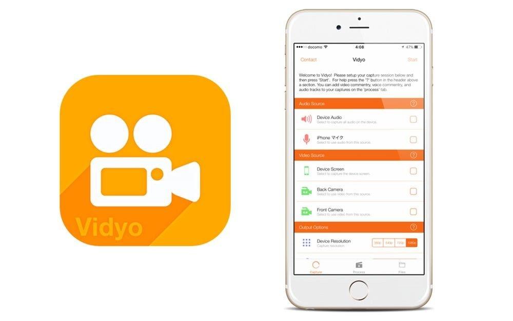 merekam layar iphone menggunakan aplikasi  vidyo screen recorder
