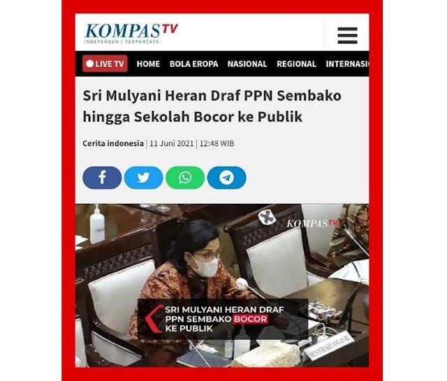 Pengamat: Argumen Pemerintah Soal Pajak Sembako, Terlihat Ngawur dan Tidak Jujur