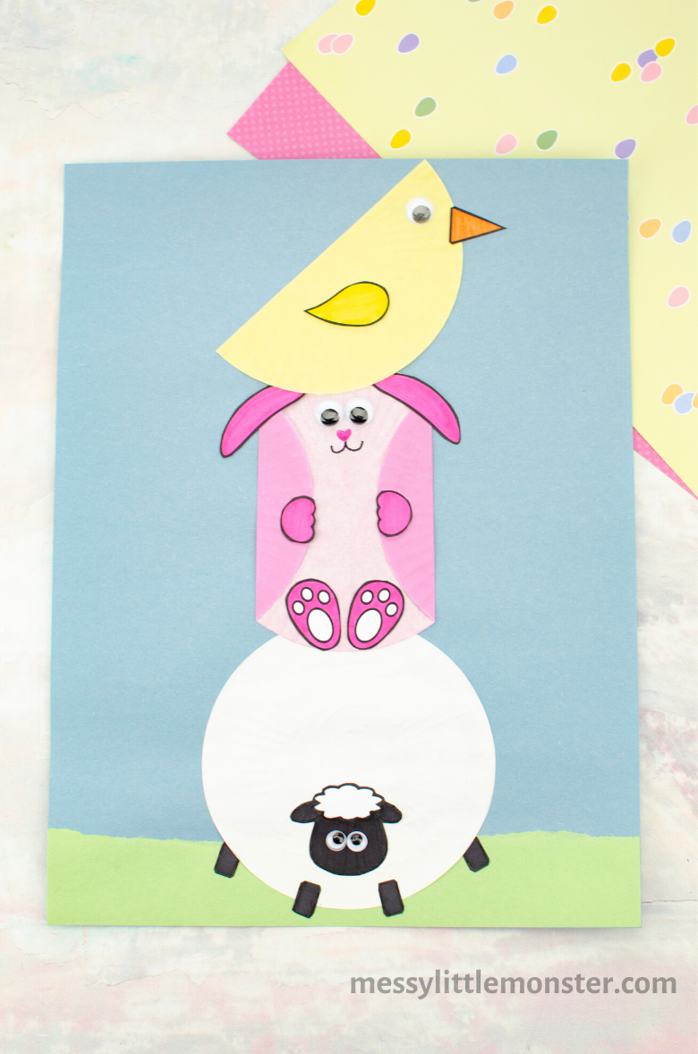 Easter craft for kids with free printable