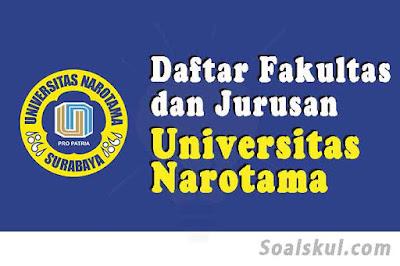 daftar fakultas jurusan universitas narotama