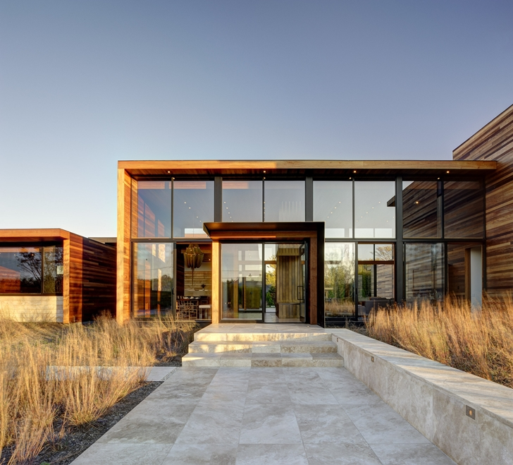 Entrance to Sam's Creek Home by Bates Masi Architects