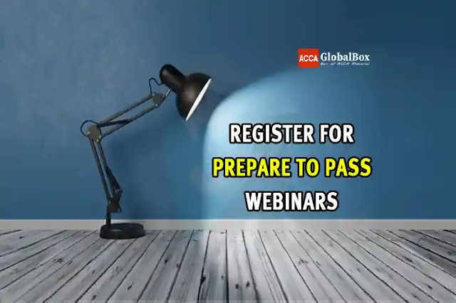 Register for Prepare to Pass Revision Webinar, Conducted by ACCA Global and ACCA Pakistan