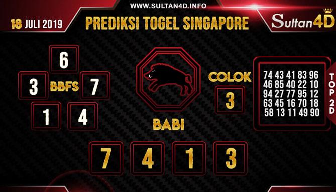 PREDIKSI TOGEL SINGAPORE SULTAN4D 18 JULI 2019
