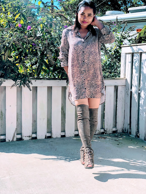 How to style an over-sized leopard prints