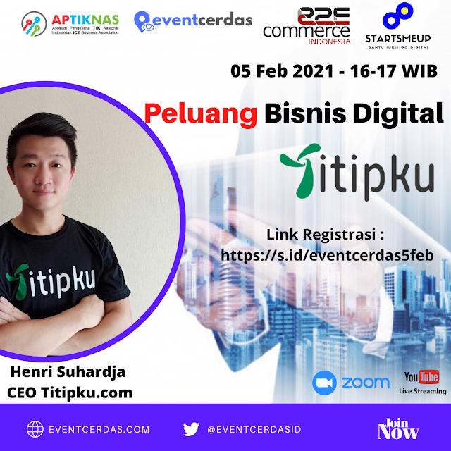 EVENTCERDAS : TITIPKU : StartSMEup Talk Peluang Bisinis Digital