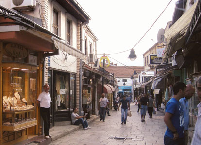 Skopje's old Turkish bazaar attracts tourists