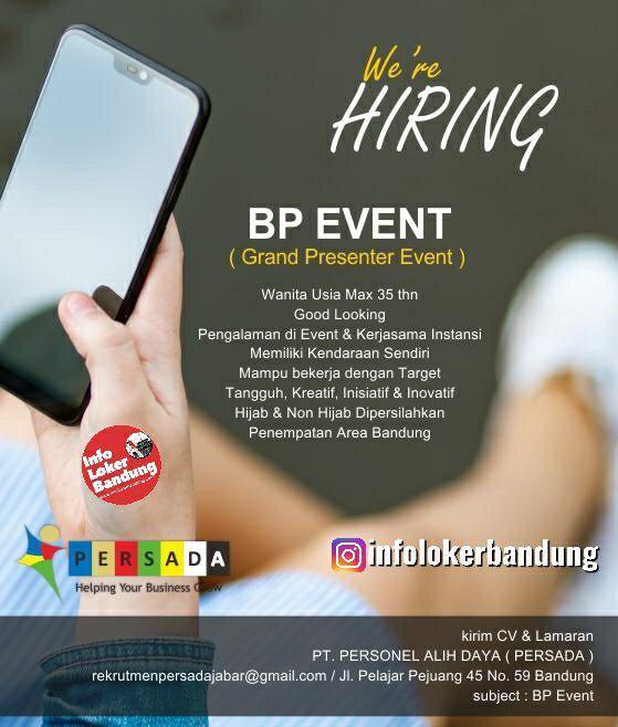 Lowongan Kerja PT. Personel Alih Daya ( Persada ) Bandung Desember 2019