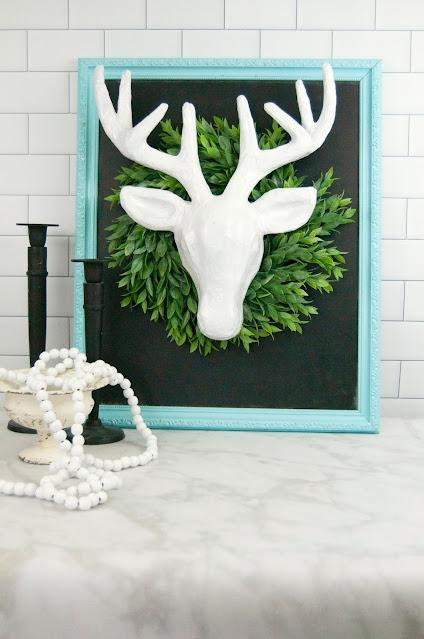 Spray Painted Paper Mache Deer Head by Jennifer Gallacher for www.jengallacher.com