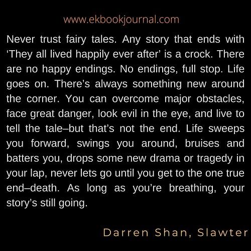 Darren Shan | Quotes | Slawter