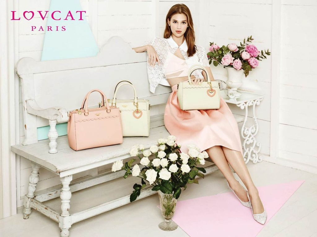 Anais Pouliot stars for the Lovcat Paris Handbags Spring/Summer 2014 Campaign