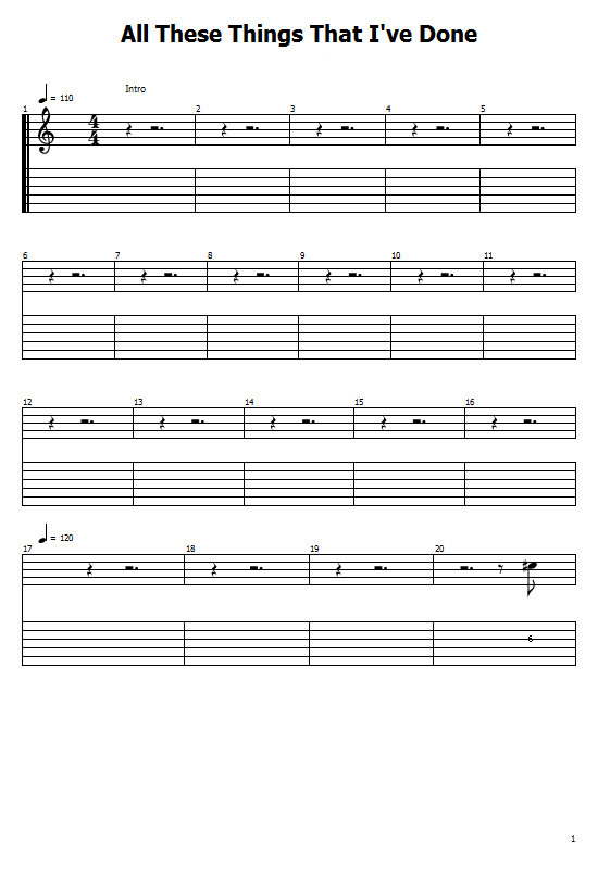 All These Things That I've Done Tabs The Killer. How to Play Looking For Love On Guitar, The Killer Tabs / Chords. The Killer - All These Things That I've Done