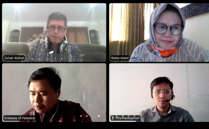 Duta Besar Palestina Zuhair Al-Shun, Berbincang-bincang dengan Pengusaha Pers Siber Indonesia