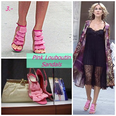 Pink shoes from sex and the city