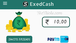 "Hello Friends!! Hope you're enjoying our Free Recharge Tricks as well as Google Tez Refer & Earn. Today We are Going To Share a New App Called Exed through which You can Get Rs.10 on Signup And Rs.10 Per Refer ( You will Get Rs.50 More if Your Refered friends buy Something from Exed App ).   A health & fitness app named ""Exed Healthcare by Urologists, Gynecologists"" has launched a referral campaign that will give you instant ₹10 as sign up bonus while per successful refer you can earn upto ₹60. Where for every refer you will get ₹10 instant while extra ₹50 credited after your friend's first purchase. So come and join the party, steps are given below.  How To Register On Exed App & Get Rs.10 Paytm Cash ?  > firstly Install Exed App, by Clicking Here.  > Skip the into & Select Any Three Option.  > Click on Left Top Corner & Click on Signup & Enter Your Mobile Number & Verify with OTP.  > Boom , Now You can See Rs.10 in Your ExedCash.  Refer & Earn Free Paytm Cash :  Once you register successfully, tap to menu situated at upper left side. There you see, refer friend and earn some paytm cash. Click it to proceed furtherTo get your unique referral link, tap to ""Invite friends"" option. Share this link with your friends and start earning ₹10 for each successful refer. Once you accumulates total of 100 points, you can request to for paytm transfer. To redeem, simply tap to paytm logo out there and submit your paytm number. Your requested paytm transfer will be credited to your wallet soon, keep patience and give their team some time.  Terms & Conditions: Only exedcash you earned by referring your friend can be claimed via paytm claim option. The money transfer needs 24Hrs to process. Claimaint need to provide mobile number registered with paytm to claim the Amount. Minimum exedcash earned by referrals has to be more than equal to ₹100 (10 unique friends login by your referral). Amount per unique referral registration is liable to change in future, without notice"