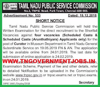 tnpsc-curator-post-exam-recruitment-notification-tngovernmentjobs-in