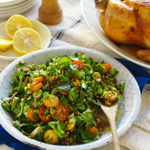 LENTIL AND MIXED HERB TABBOULEH