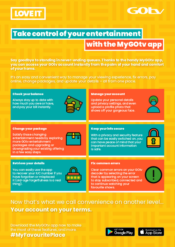 MyGOtvApp, Model For Improved Customer Experience