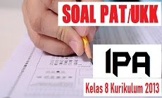 Download Soal PAT IPA Kelas 8 SMP/MTs Kurikulum 2013