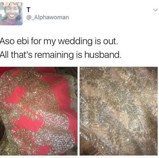 """""""Woman of faith"""" buys bridal train dresses for wedding, now looking for husband"""