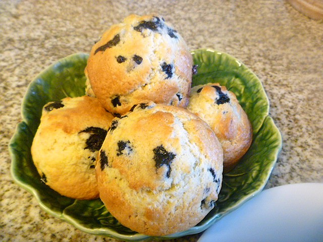 Bakery Style Orange Blueberry Muffins: Juicy, ripe, hot, blueberries, that burst in your mouth, and then comes that hint of orange...Heaven! - Slice of Southern